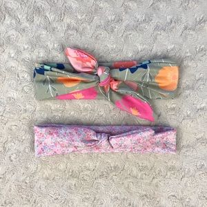 Baby Girl Knotted Headband Bundle Pink Floral